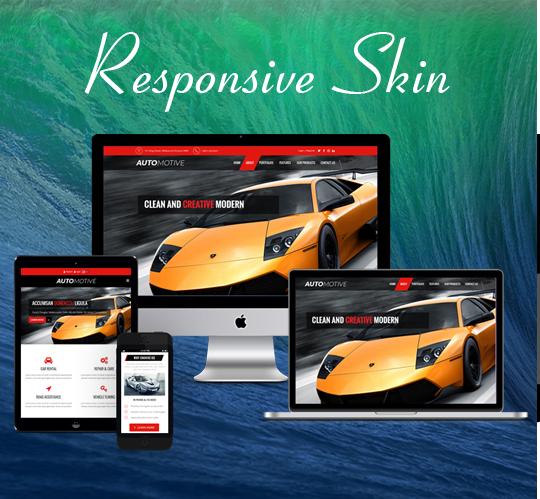 DNNSmart ZF0051-Red Responsive Theme
